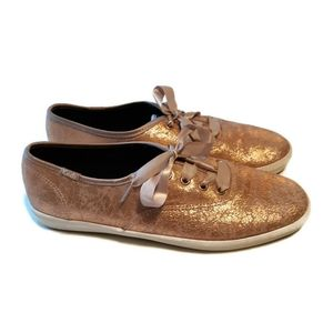 Keds Rose Gold Textured Sneakers Size 8.5